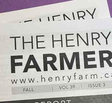 HENRY FARM NEWSLETTERS